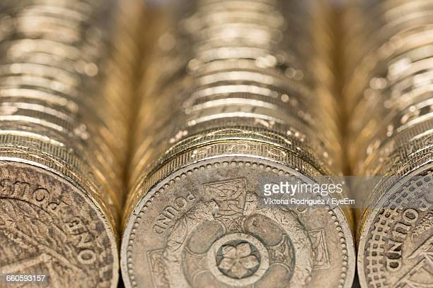 full frame shot of british coins - brexit ストックフォトと画像