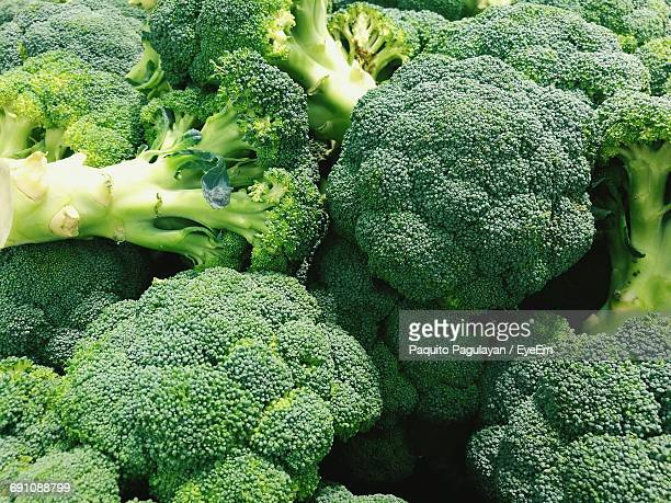 Full Frame Shot Of Broccoli For Sale At Market