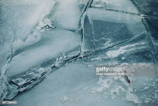Full Frame Shot Of Broken Ice