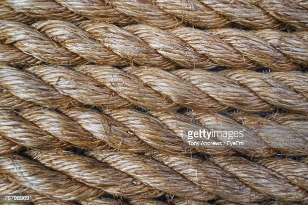 Full Frame Shot Of Brown Ropes