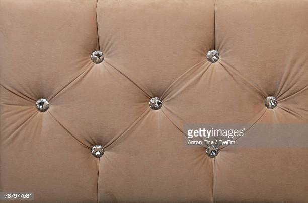 Full Frame Shot Of Brown Sofa