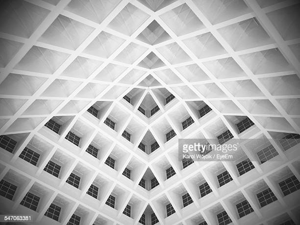 full frame shot of building - geometric design stock photos and pictures