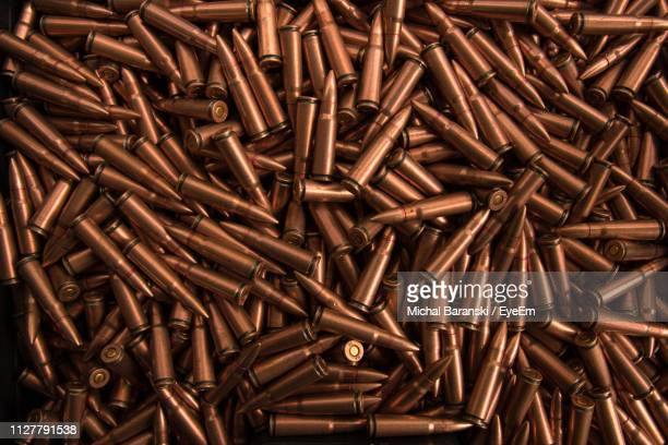 full frame shot of bullets - bullet stock pictures, royalty-free photos & images