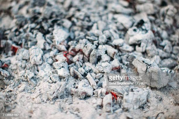 Full Frame Shot Of Burning Coals