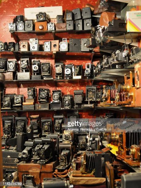 full frame shot of cameras on shelves - eyeem collection stock pictures, royalty-free photos & images