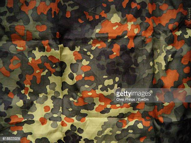 Full Frame Shot Of Camouflage Clothing