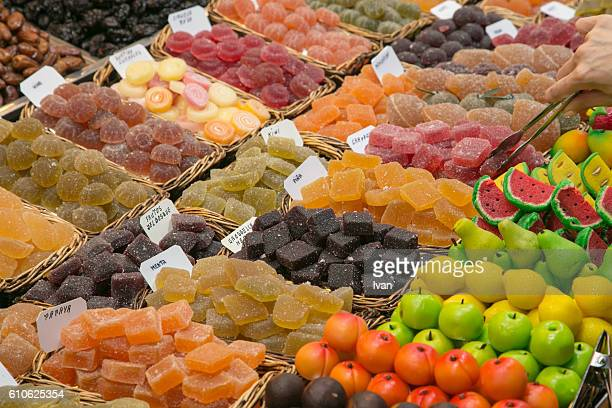 Full Frame Shot of Candies At Store For Sale in