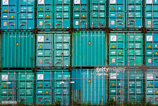 Full Frame Shot Of Cargo Containers