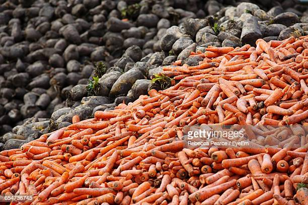 Full Frame Shot Of Carrots And Potatoes