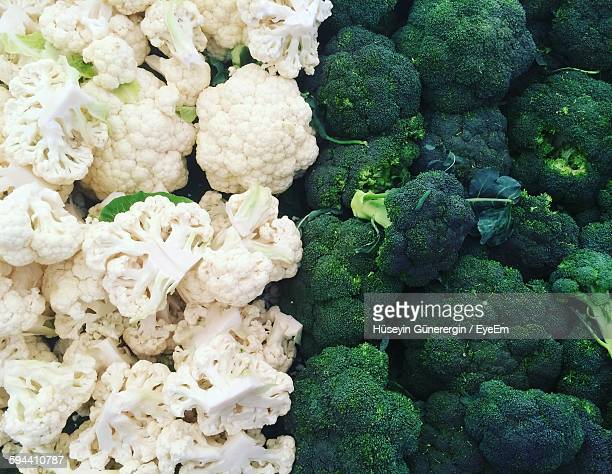 Full Frame Shot Of Cauliflower And Broccoli