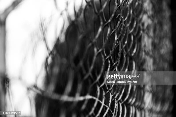 full frame shot of chainlink fence - mack stock pictures, royalty-free photos & images