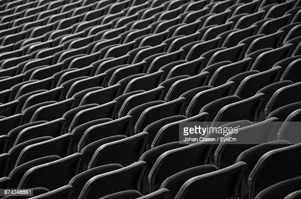 full frame shot of chairs at olympiastadion berlin - olympiastadion berlin stock pictures, royalty-free photos & images