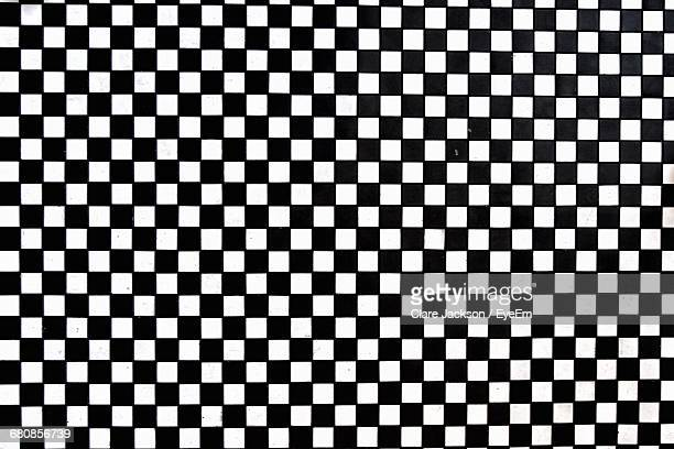 full frame shot of checked pattern tiled floor - checked pattern stock pictures, royalty-free photos & images