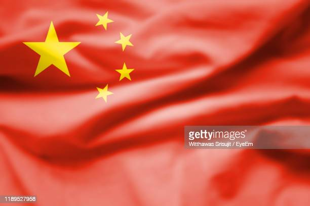 full frame shot of chinese flag - chinese flag stock pictures, royalty-free photos & images