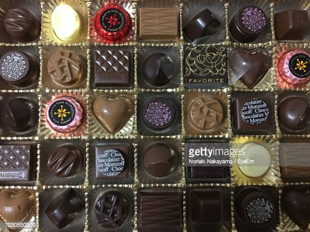 Full Frame Shot Of Chocolate Box
