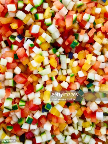 full frame shot of chopped vegetables - pared stock pictures, royalty-free photos & images
