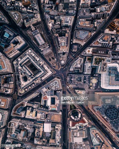 full frame shot of cityscape - luchtfoto stockfoto's en -beelden