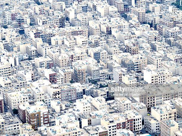 full frame shot of cityscape - tehran stock pictures, royalty-free photos & images