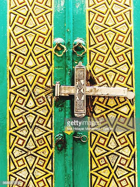 full frame shot of closed door of house - mecca stock pictures, royalty-free photos & images
