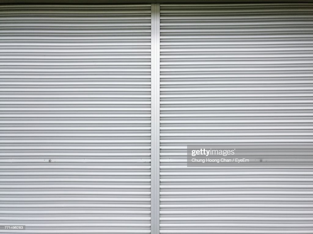 Full Frame Shot Of Closed Shutter : Stock Photo