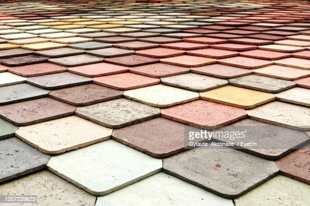 full frame shot of cobblestone - paving stone stock pictures, royalty-free photos & images