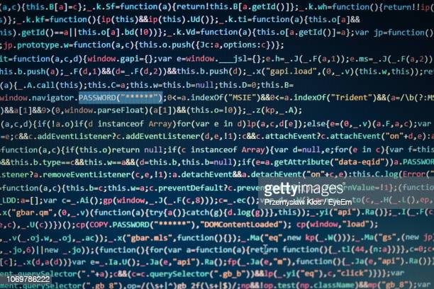 full frame shot of code - coding stock pictures, royalty-free photos & images