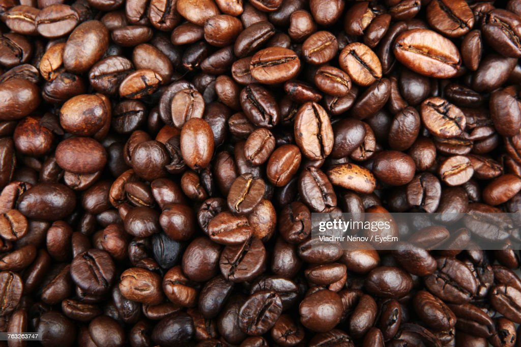 Full Frame Shot Of Coffee Beans Stock Photo | Getty Images