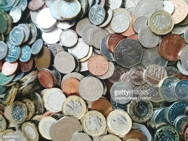 full frame shot of coins - coin photos stock pictures, royalty-free photos & images
