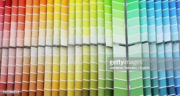 full frame shot of color swatches - color swatch stock pictures, royalty-free photos & images