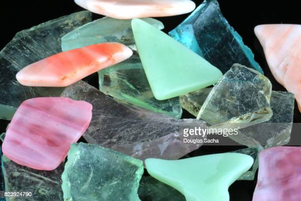 full frame shot of colored sea glass - imperfection stock pictures, royalty-free photos & images