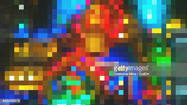 full frame shot of colorful abstract backgrounds - pixels stock photos and pictures