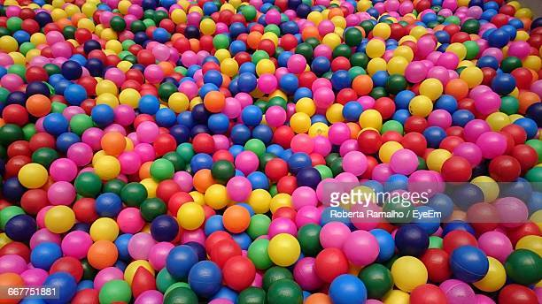 Full Frame Shot Of Colorful Ball Pool