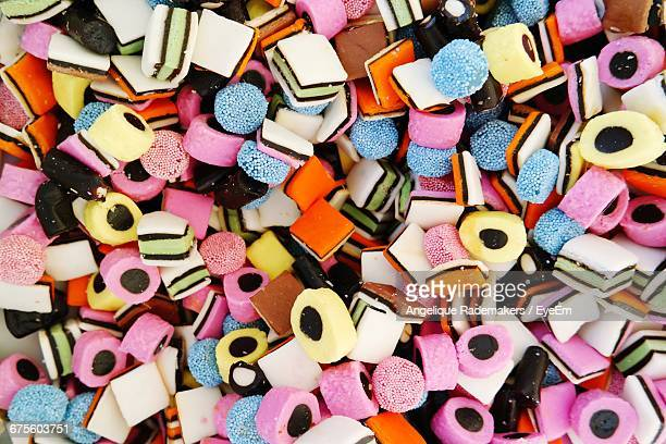 Full Frame Shot Of Colorful Candies For Sale