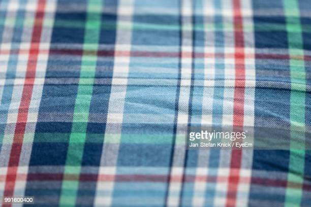 full frame shot of colorful check patterned textile - plaid stock pictures, royalty-free photos & images