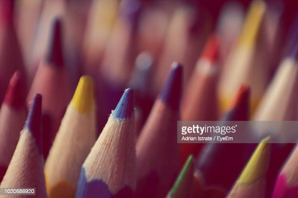 Full Frame Shot Of Colorful Colored Pencils