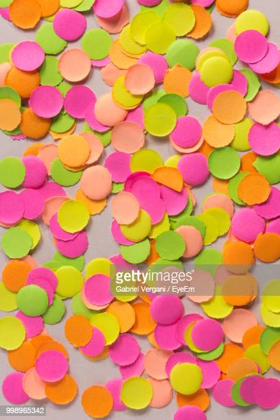 Full Frame Shot Of Colorful Confetti On Table