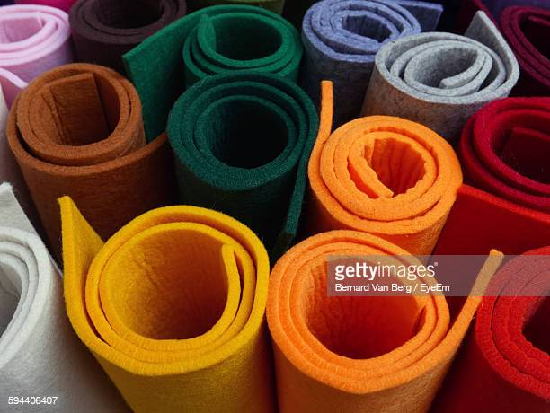 Full Frame Shot Of Colorful Exercise Mats