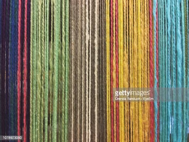 full frame shot of colorful fabric - loom stock pictures, royalty-free photos & images