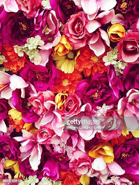 full frame shot of colorful flowers - flower wallpaper stock pictures, royalty-free photos & images