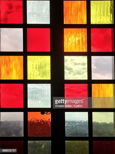 Full Frame Shot Of Colorful Glass Window