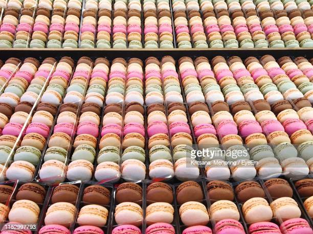 full frame shot of colorful macaroons for sale - eyeem collection stock pictures, royalty-free photos & images
