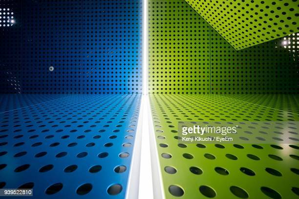 full frame shot of colorful metal grate - metal grate stock photos and pictures