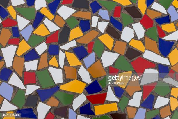 full frame shot of colorful mosaic wall - different cultures stock pictures, royalty-free photos & images