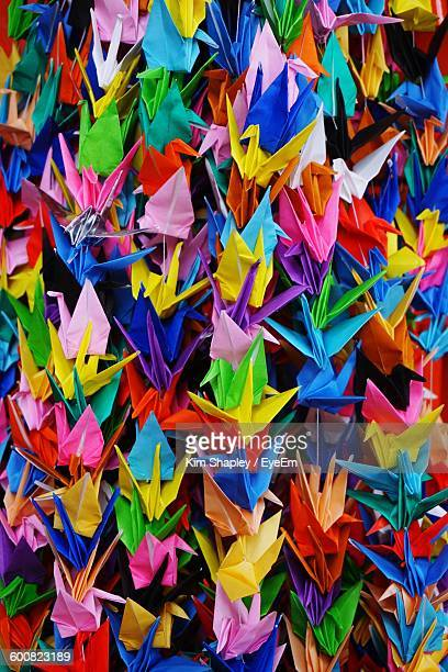 Full Frame Shot Of Colorful Paper Birds