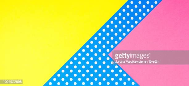 full frame shot of colorful papers - polka dot stock pictures, royalty-free photos & images