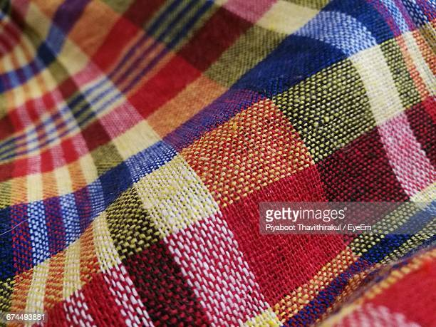 Full Frame Shot Of Colorful Plaid Fabric