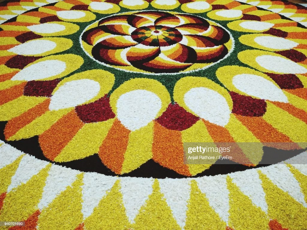 Full Frame Shot Of Colorful Rangoli : Stock Photo