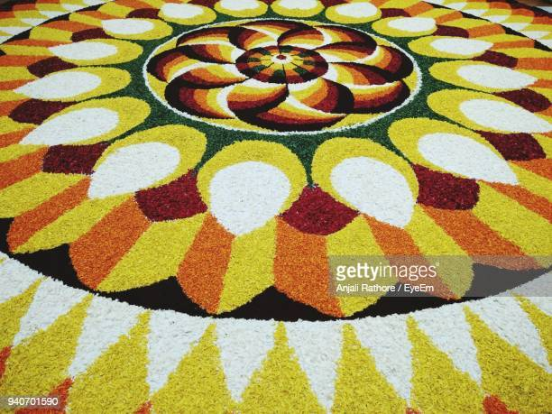 full frame shot of colorful rangoli - rangoli stock pictures, royalty-free photos & images