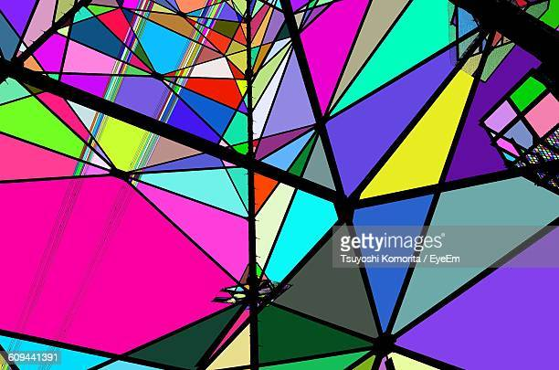 Full Frame Shot Of Colorful Stained Glass
