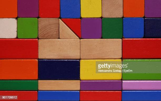 full frame shot of colorful toy blocks - toy block stock pictures, royalty-free photos & images